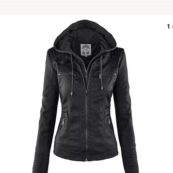 3b321a672871 Made By Johnny Jackets   Blazers - Made By Johnny Hooded Faux Leather  Hoodie Jacket
